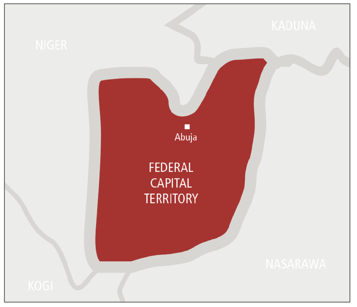 The Violent Road Nigerias Federal Capital Territory AOAV - abuja map