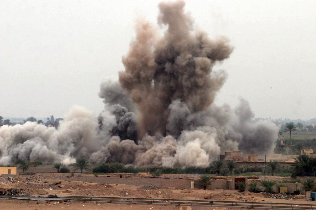 US airstrike in Fallujah, 2004.