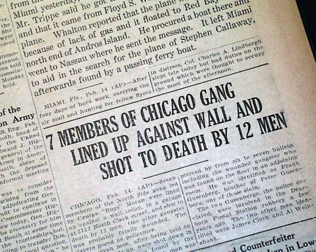 15 Shootings That Changed The Law Chicago 1929 Aoav