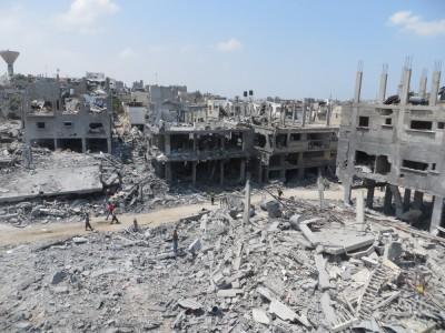 Destruction of Beit Hanoun, northern Gaza, 05 August 2014, c. Muhammad Sabah, B'Tselem