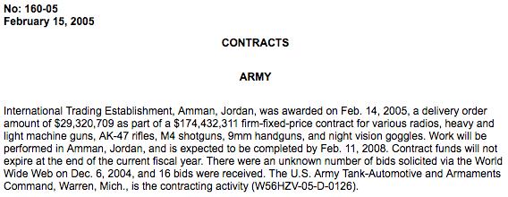 AOAV contract announcement
