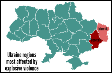 Ukraine regions most affected
